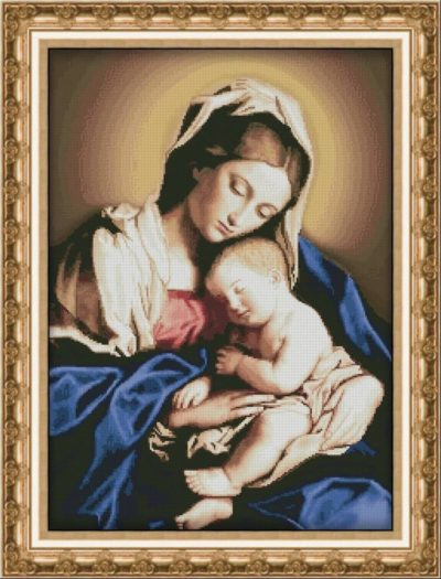 Madonna with a baby | Needlepoint Kits