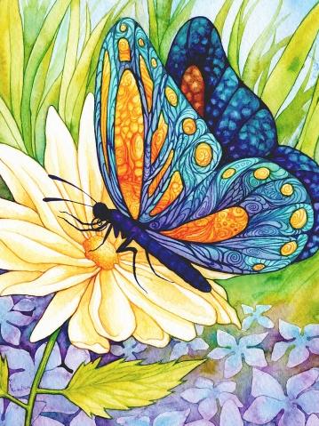 Butterfly on a flower | Needlepoint Kits