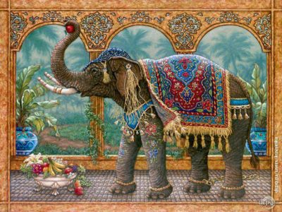 Indian elephant | Needlepoint Kits