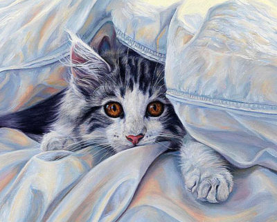 Cat under the covers | Needlepoint Kits