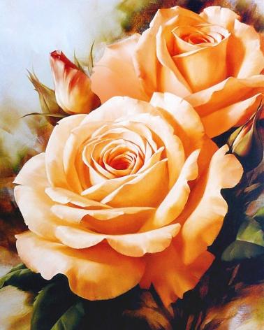Tea Roses Bouquet | Needlepoint Kits