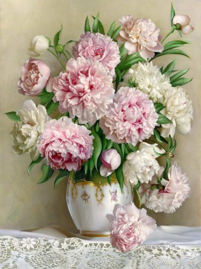 Peonies in a Vase | Needlepoint Kits