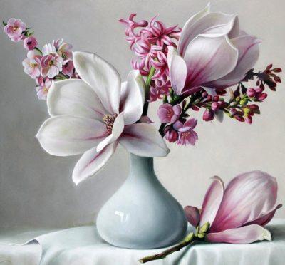 Bouquet of magnolias | Needlepoint Kits