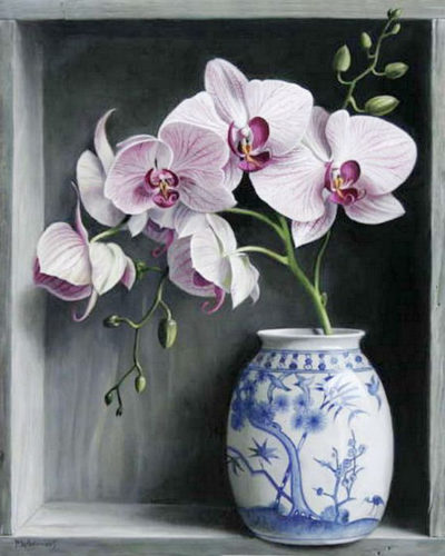 Orchids in a Vase | Needlepoint Kits