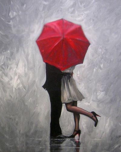 Lovers under umbrella | Needlepoint Kits