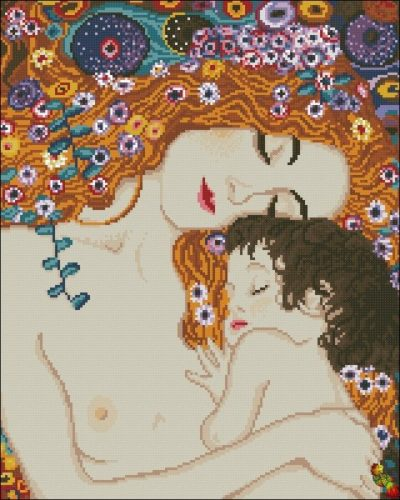 Mother and Child by Gustav Klimt | Needlepoint Kits