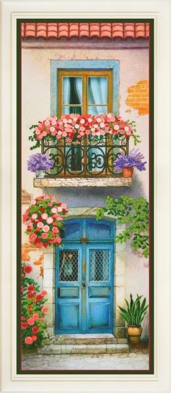 Flowered balcony 3   Needlepoint Kits