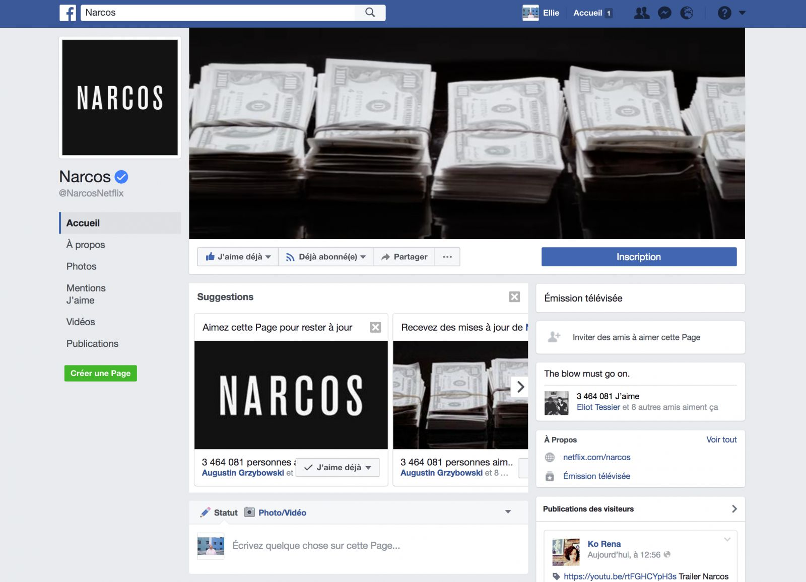 Photo © Facebook, Narcos homepage