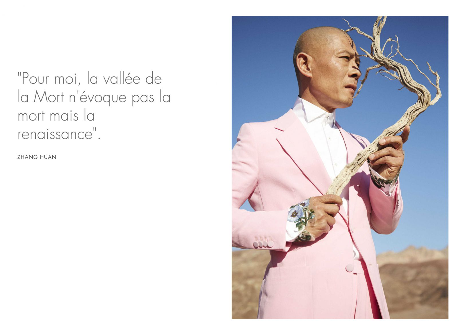Photo © Gucci x GQ, Zhang Huan