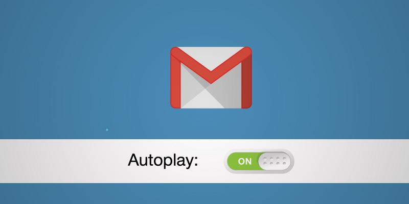 Gmail начал автоматически воспроизводить видеоролики