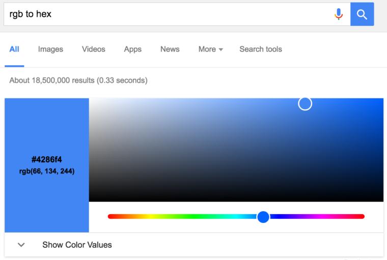 Google только что стал полезнее для веб-дизайнеров
