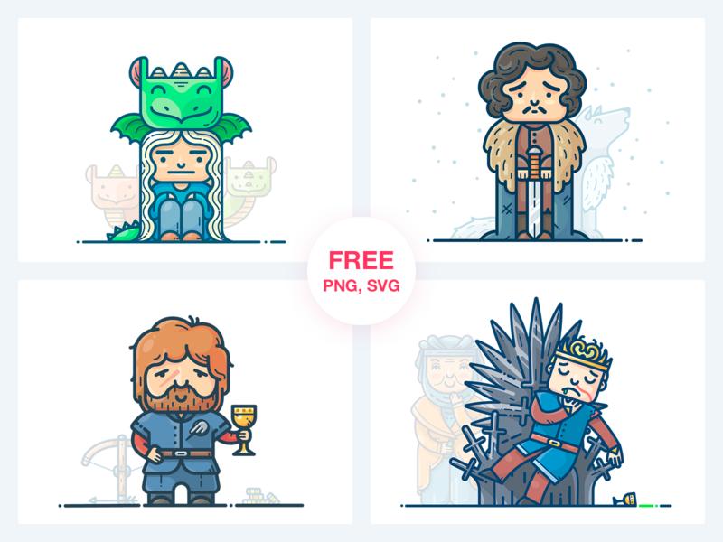 Бесплатные стикеры для печати Игра престолов