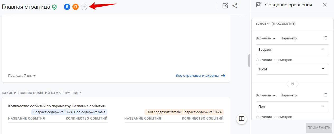 Новый отчет в Google Analytics