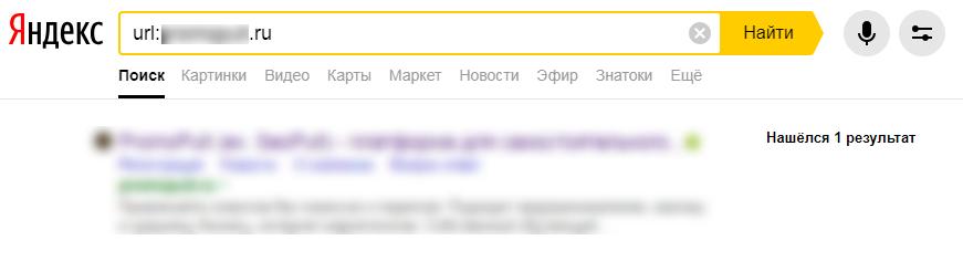 Проверка зеркал сайта через Яндекс