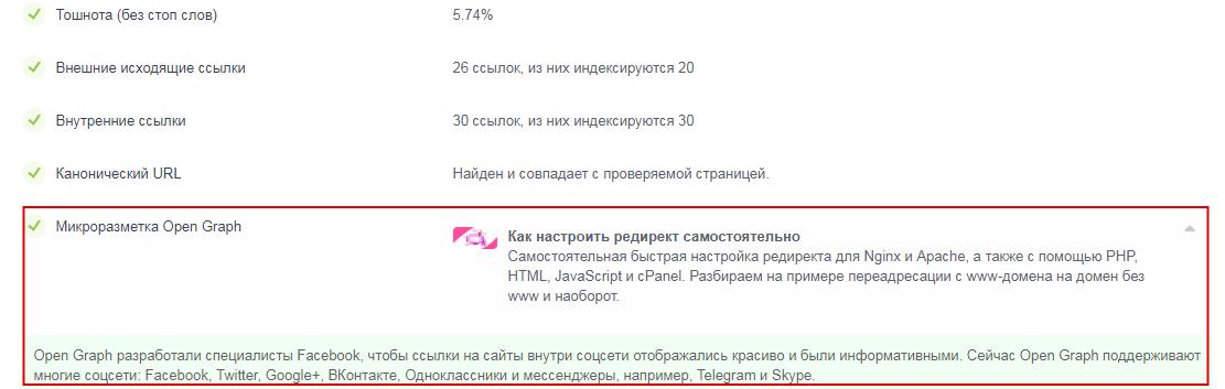 проверка наличия микроразметки на сайте