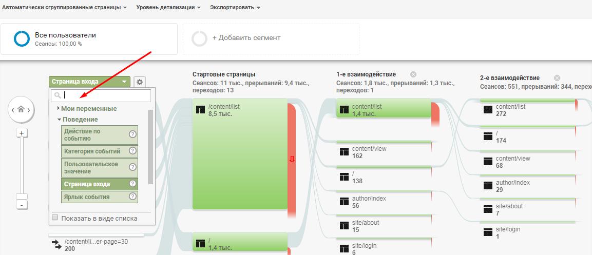 посмотреть карту поведения пользователей в гугл аналитикс