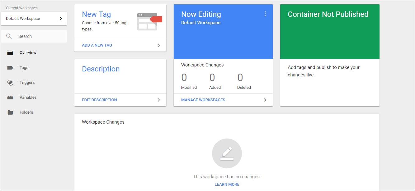 добавить теги в Google Tag Manager