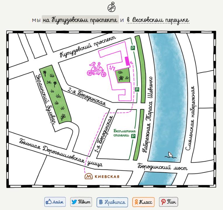оригинальная карта сайта пример