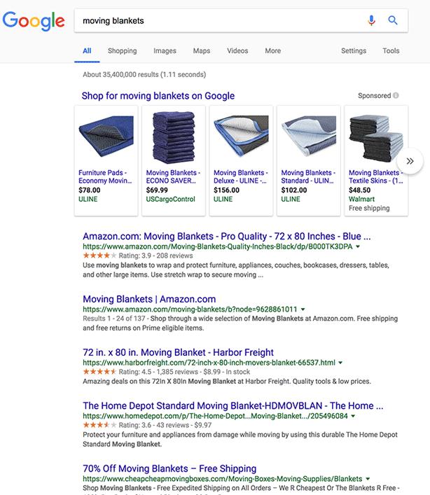 Google тестирует серые звезды в результатах поиска