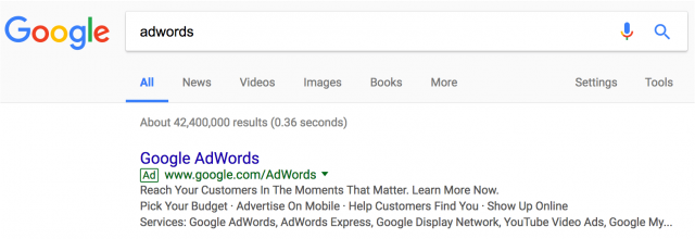 Google adwords реклама в поиске