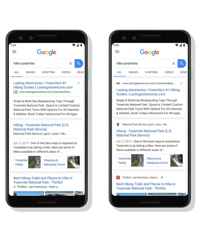 Google меняет внешний вид результатов мобильного поиска