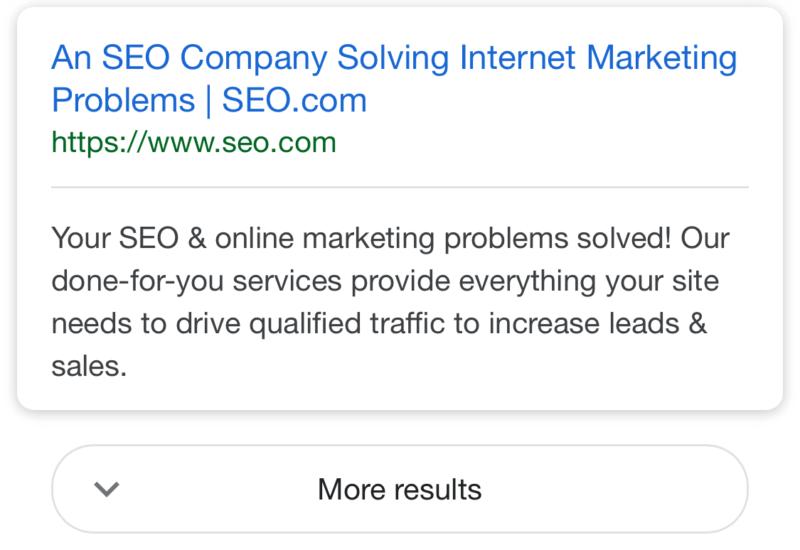 В мобильных результатах поиска Google – новая функция!