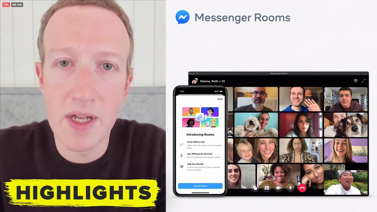 Facebook запустила Messenger Rooms