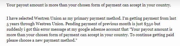 У пользователей Google AdSense снова проблемы с выплатами