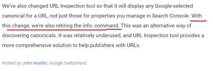 Google ликвидирует еще один поисковый оператор