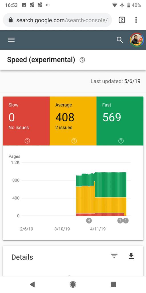 Google представил новый отчет анализа скорости страниц