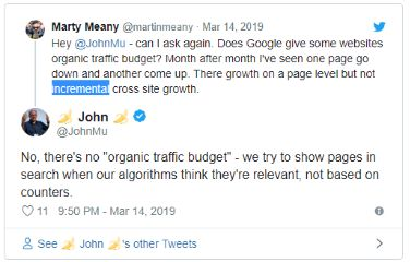 Бюджет органического трафика: есть ли он у Google?