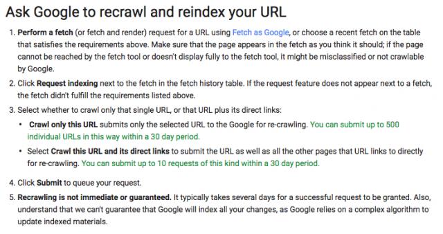 Google пересмотрел лимиты на повторное сканирование страниц