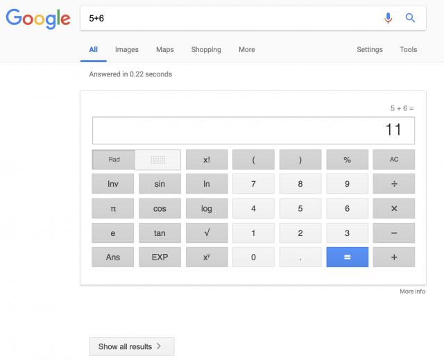 Как вам выдача Google всего-навсего с одним точным ответом?!