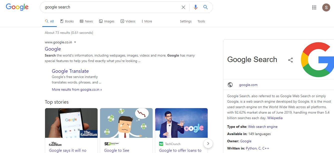 Google обновил шрифты на странице выдачи