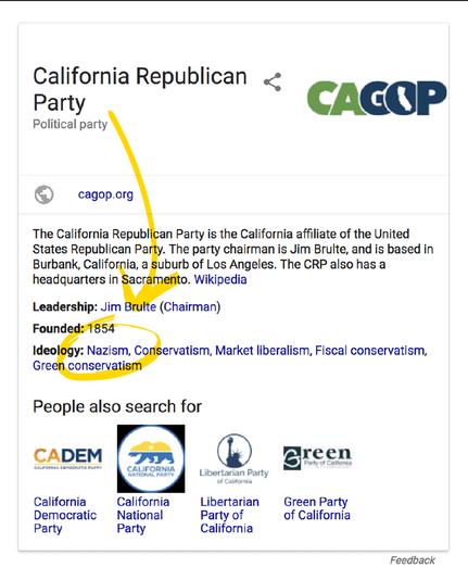 Поиск Google приравнял ведущую партию США к ... нацистам