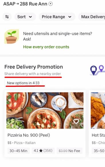 Условия бесплатной доставки с ограничением по времени