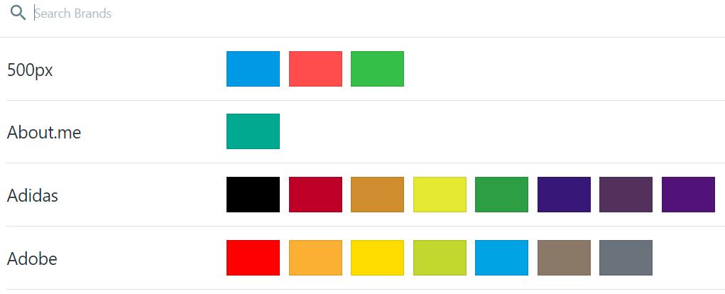 цвета известных брендов