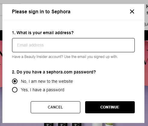 быстрая регистрация в интернет-магазине