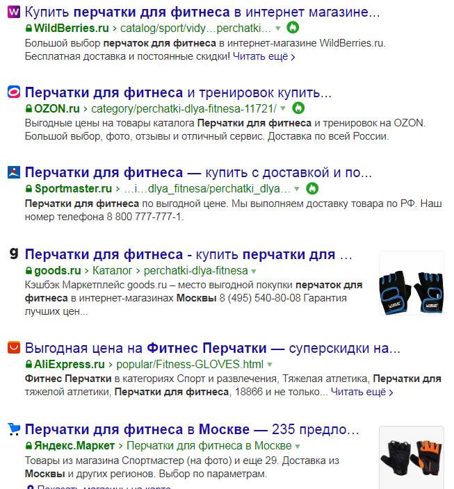 Из чего состоит топ Яндекса