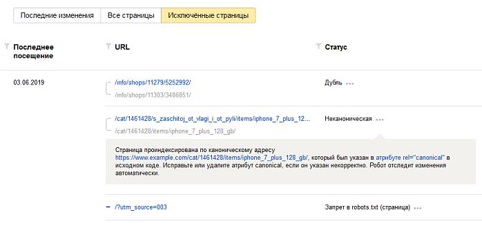 Проверка дублей в выдаче через Яндекс.Вебмастер