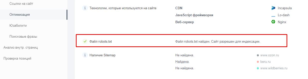 Как проверить наличие файла robots