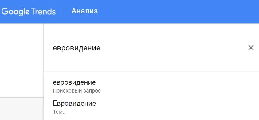 Как ввести запрос в Google Trends