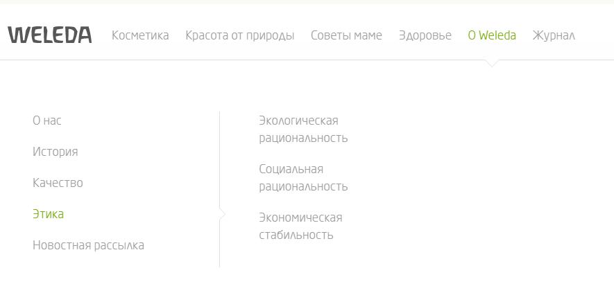 структура раздела о компании на сайте