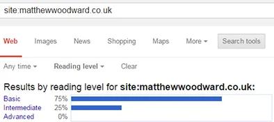 уровень чтения материала в google