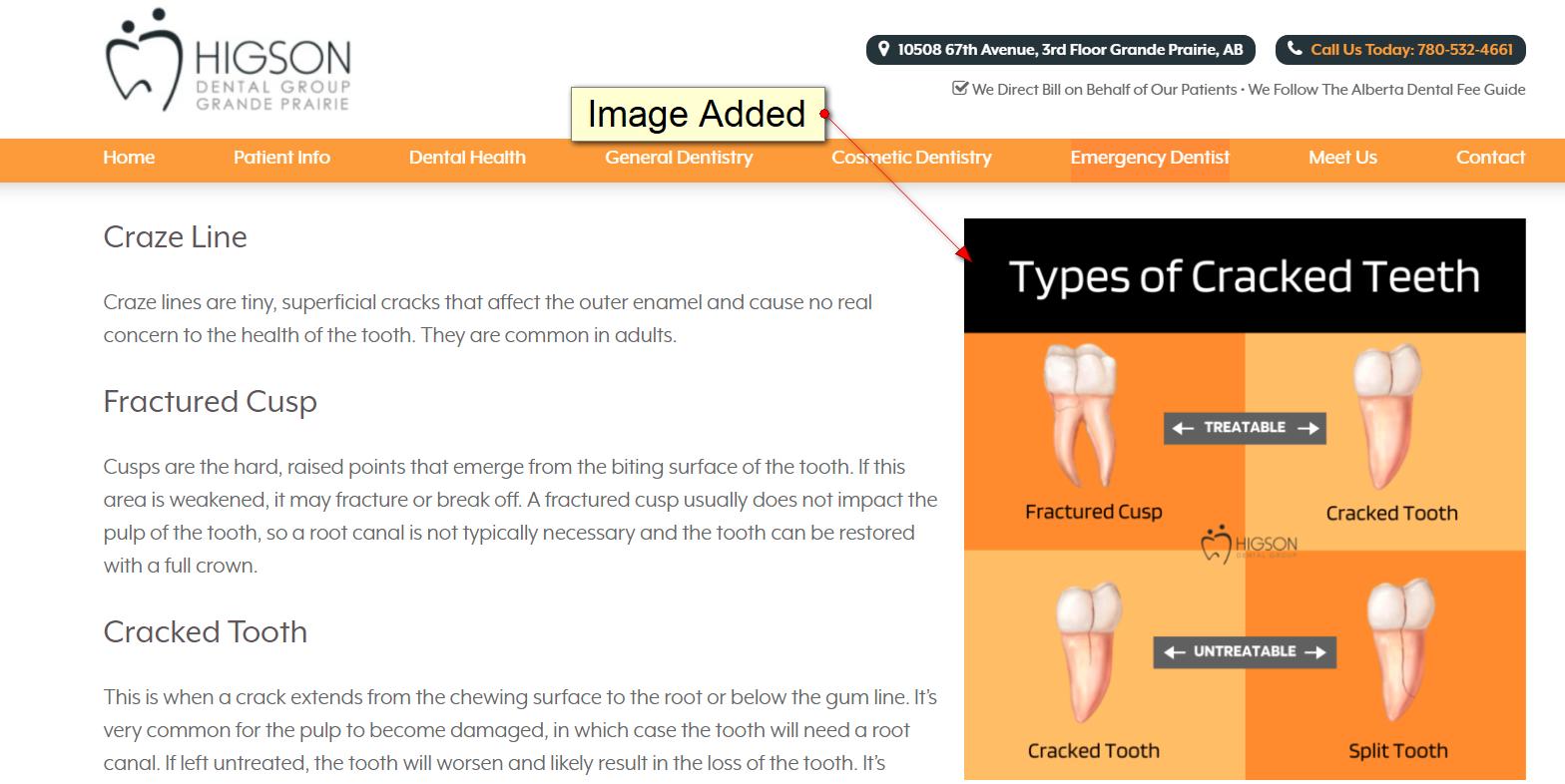 Добавили изображение на сайт