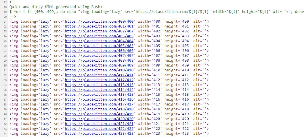 Ленивая загрузка в коде сайта