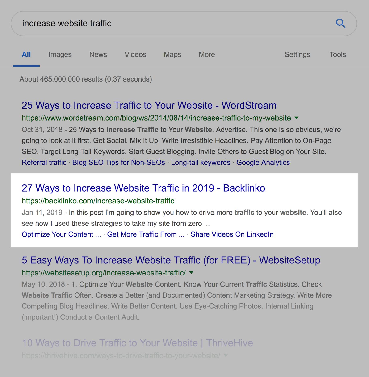 Ссылка на статью в поисковой выдаче
