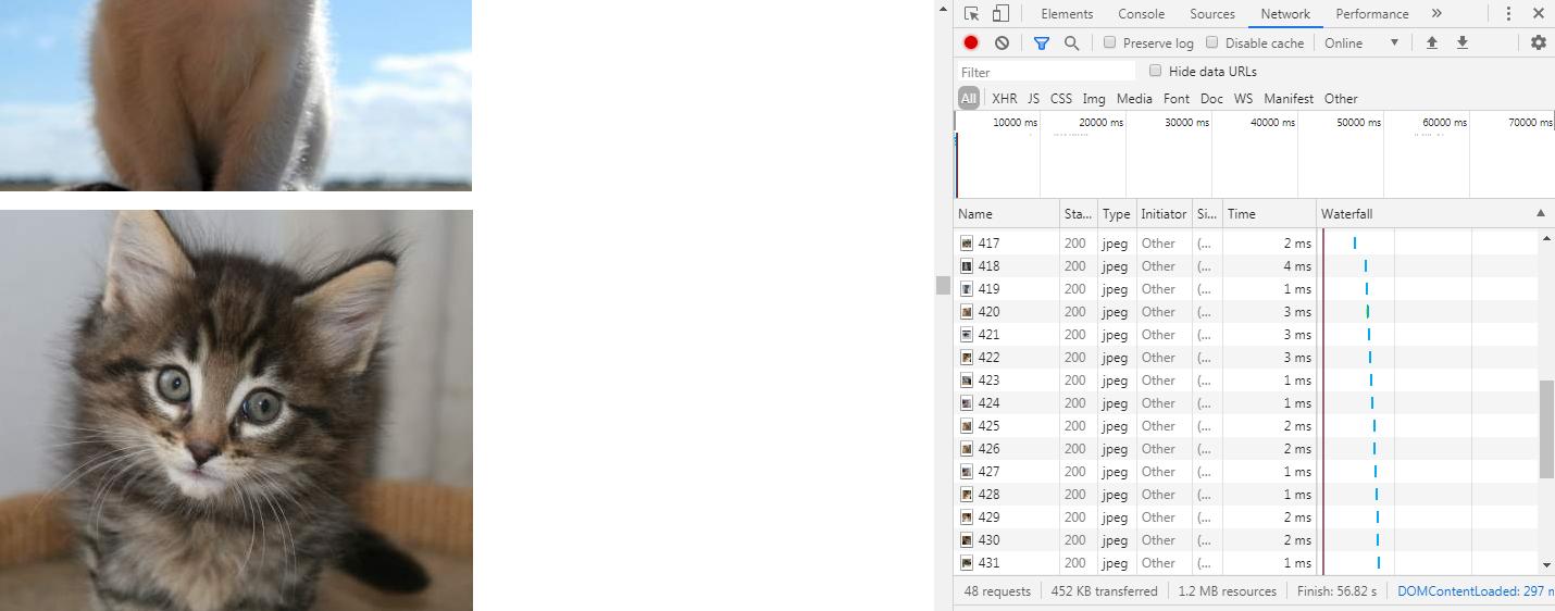 Отложенная загрузка изображений в браузере