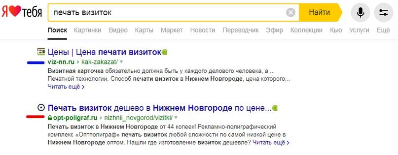 Метод попарного сравнения для Яндексе