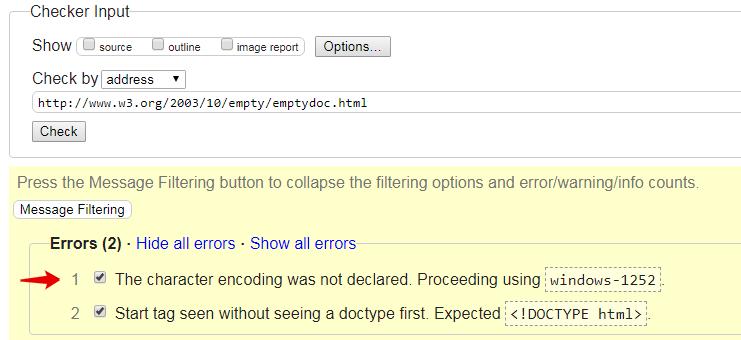 Некорректная кодировка, пример